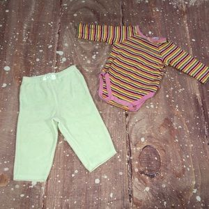 3-6M Girls Two Piece Set Onesie And Pants
